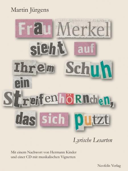 Frau Merkel sieht auf ihrem Schuh ein Streifenhörnchen, das sich putzt
